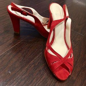 👠👠ZARA👠👠 💯red suede heels 👠